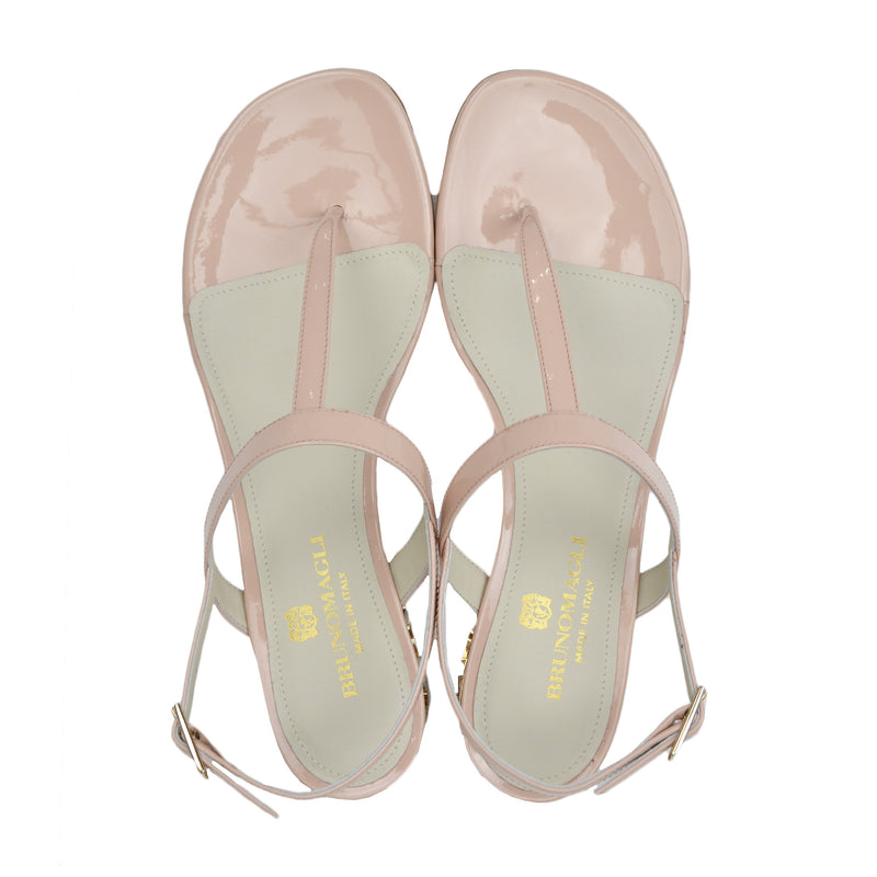 Venice Patent Leather Sandal - Nude