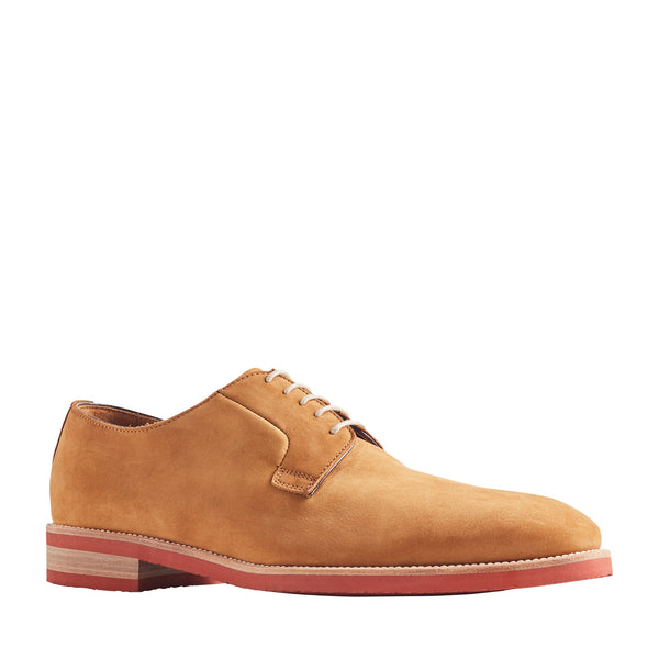 Bobo Suede Lace-Up Derby Shoe - Cognac