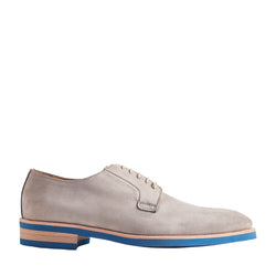 Bobo Suede Lace-Up Derby Shoe - Grey