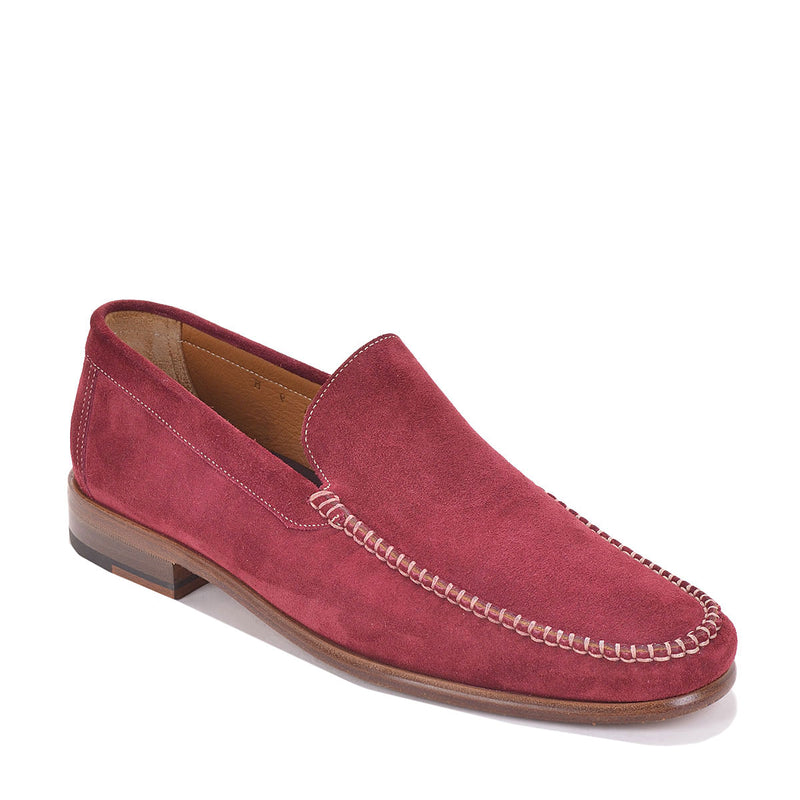 Boca Suede Loafer - Red Velour Suede