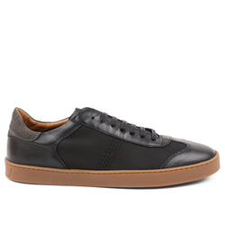 Bono Leather/Nylon Lace-Up Sneaker - Black