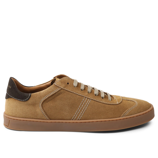 Bono Suede Lace-Up Sneaker - Cognac