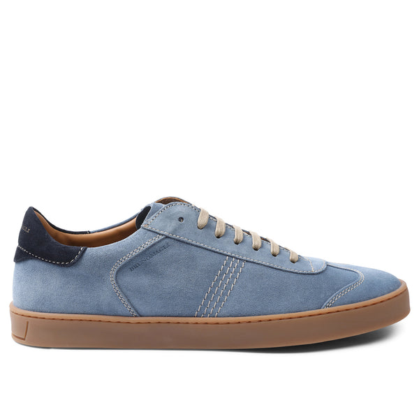 Bono Suede Lace-Up Sneaker - Light Blue