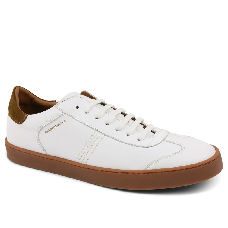 Bono Leather Lace-Up Sneaker - White