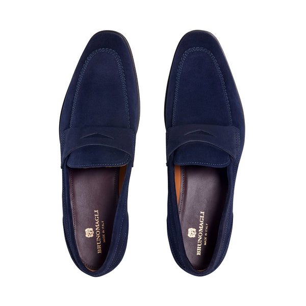 Brando Suede Loafer - Navy