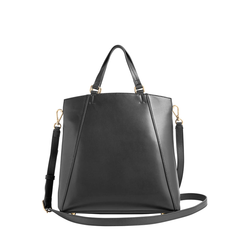 Damiana Small Tote - Black/Black/Black Leather/Suede