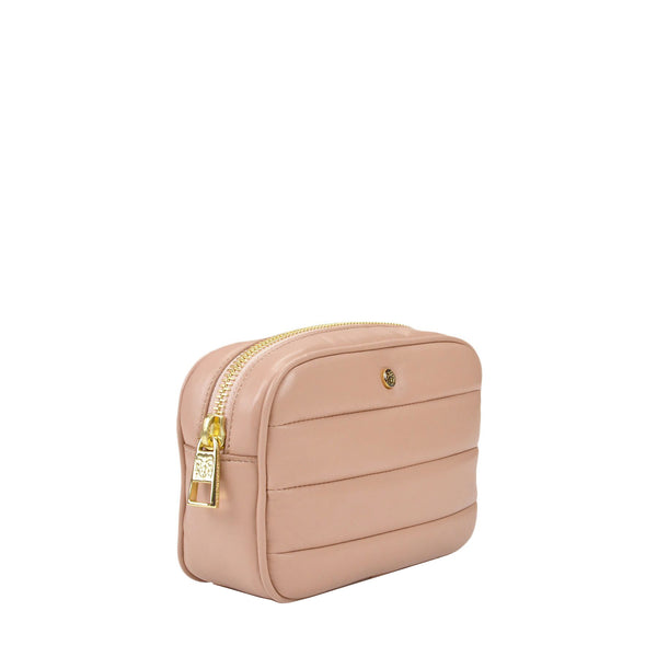 Leather Puffer Belt Bag - Blush - FINAL SALE