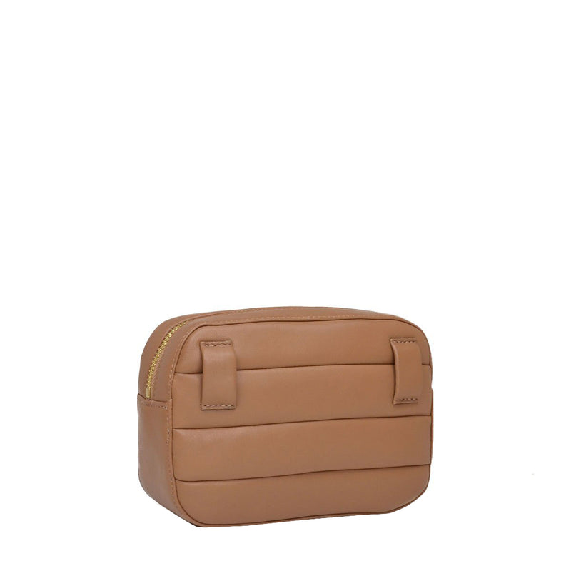 Leather Puffer Belt Bag  - Nut - Online Exclusive - FINAL SALE