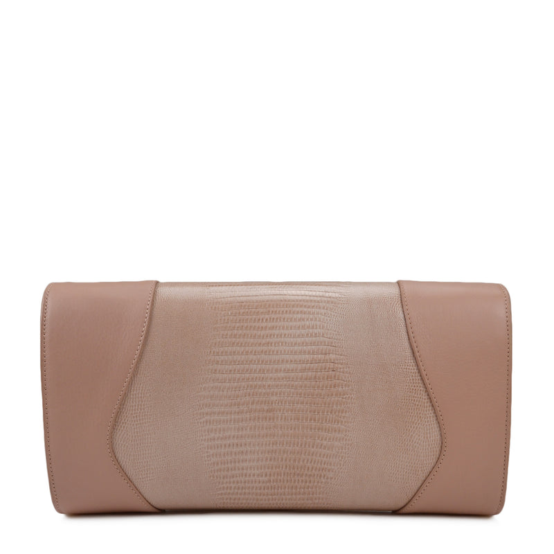 Equestrian Lock-Flap Clutch - Blush - FINAL SALE