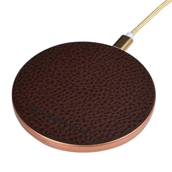 Leather Wireless Charger - Brown