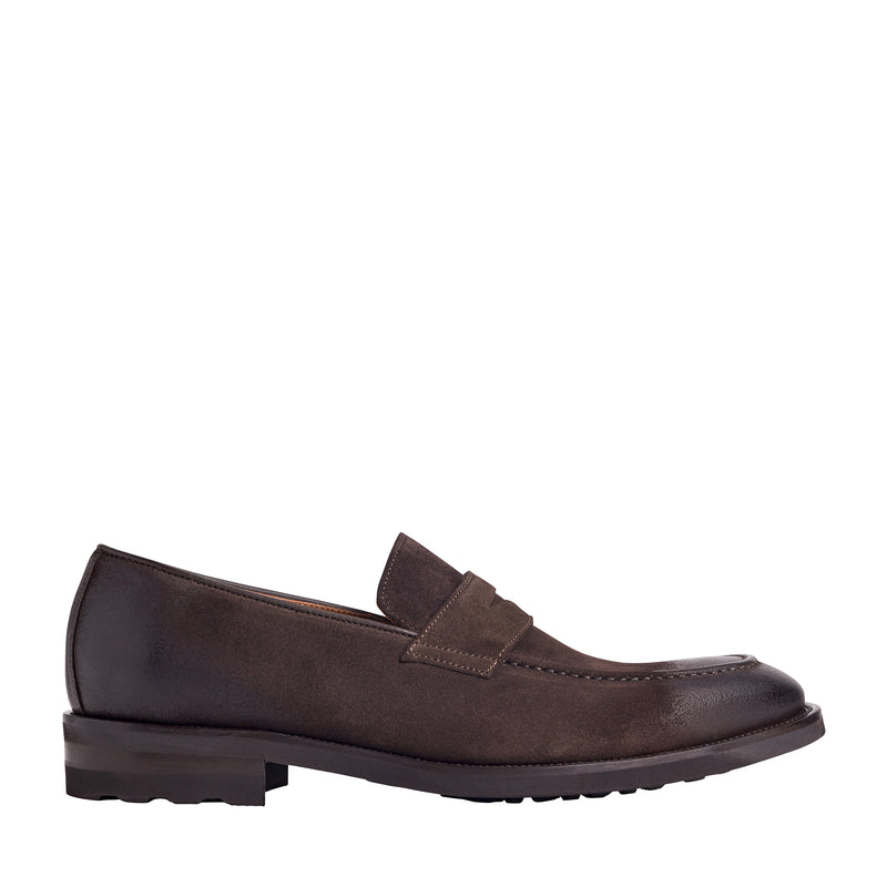 Bryan Burnished-Toe Loafer - Dark Brown
