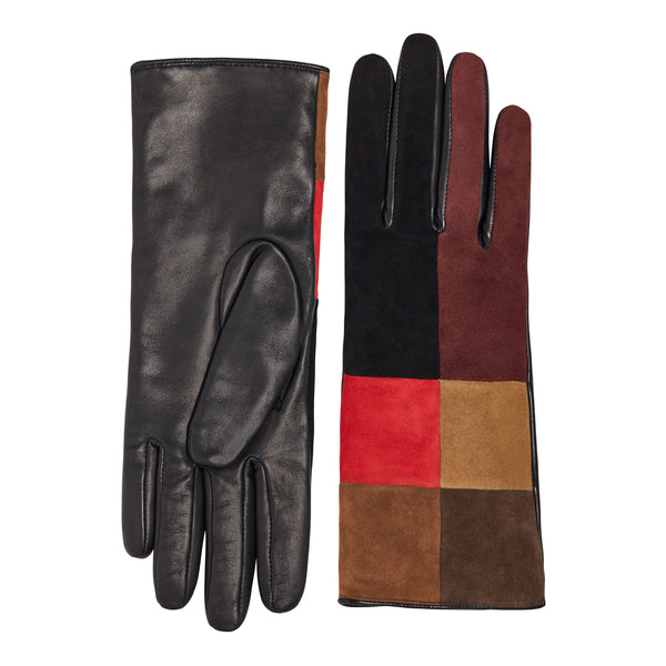 Geonna Women's Cashmere and Suede Patchwork Gloves - Patchwork