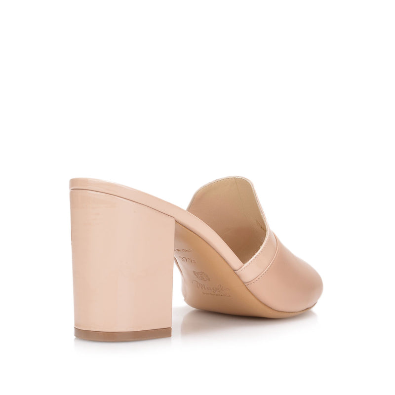 Candy Sandal, 3-inch - Nude Leather/Patent Leather