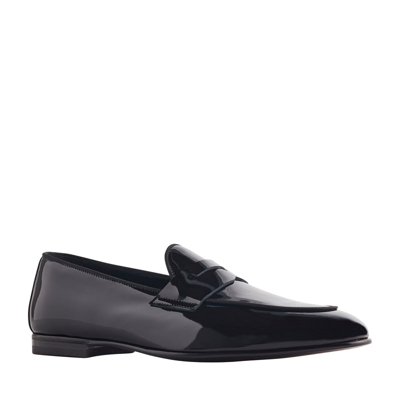 Cardosa Sera Patent Leather Penny Loafer - Black