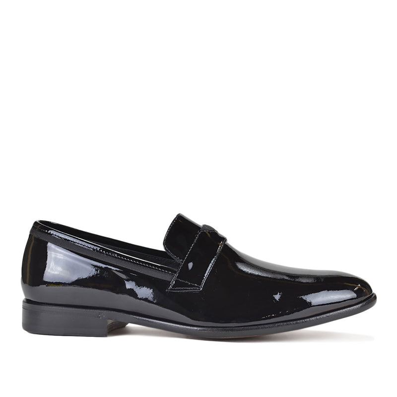 Collezione Carlos Patent Slip-on - Black Patent Leather