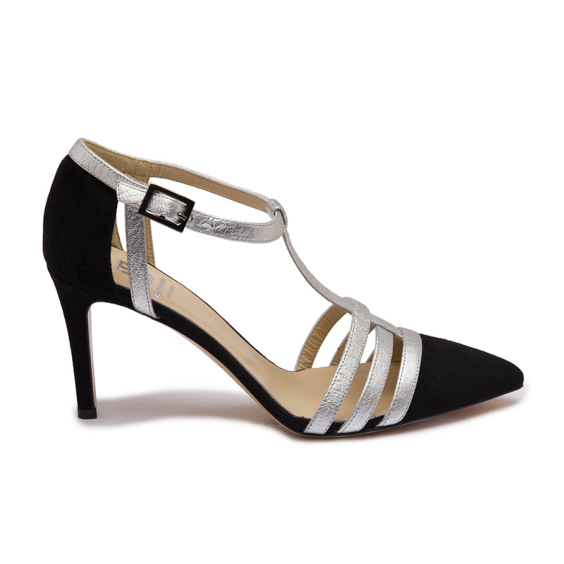 Cassia Women's Pump - Black/Silver