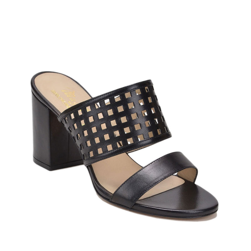 Cathy Sandal, 3-inch - Black Leather - FINAL SALE