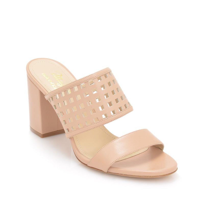 Cathy Sandal, 3-inch - Nude Leather
