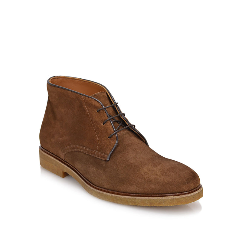 Chavez Lace-up Boot - Cognac Suede