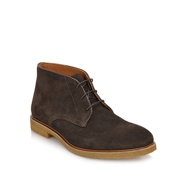 Chavez Lace-up Boot - Dark Brown Suede