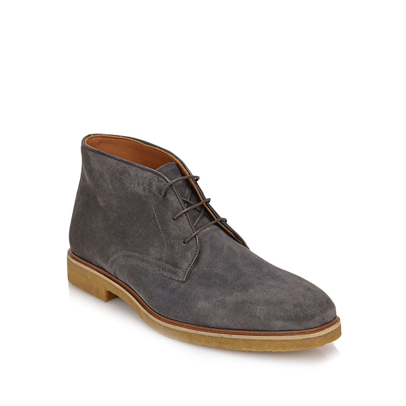 Chavez Lace-up Boot - Dark Grey Suede