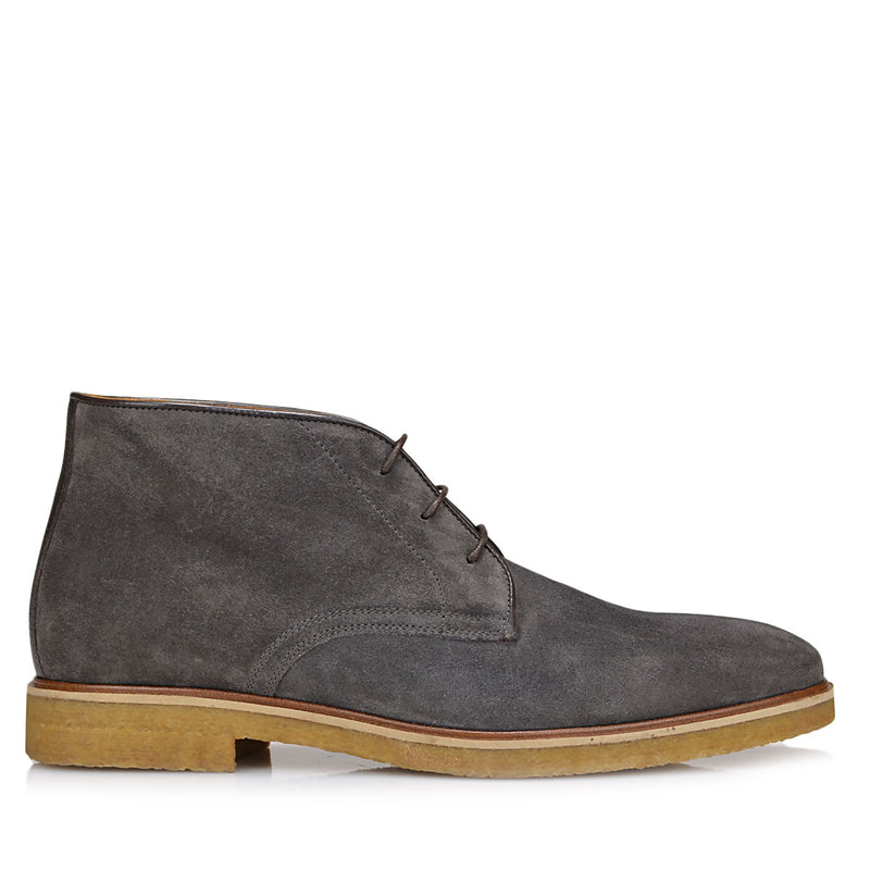 Chavez Lace-up Boot - Dark Grey Suede - FINAL SALE