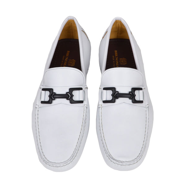 Daniel Leather Driving Moccasin - White - Online Exclusive