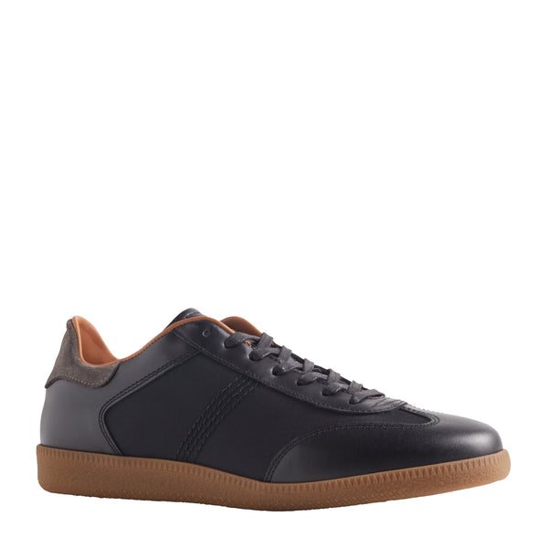 Dano Leather & Nylon Sneaker - Black
