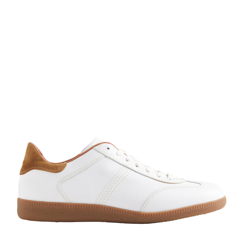 Dano Leather & Suede Sneaker - White