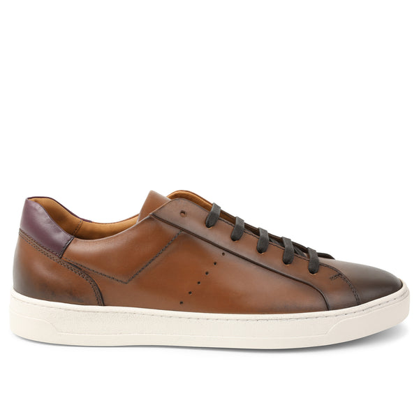 Dante Lace-to-Toe Oxford Sneaker - Cognac