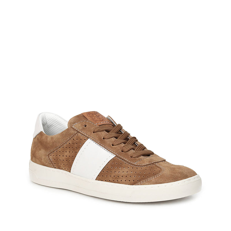 Dario Perforated Suede Sneaker - Cognac Suede - FINAL SALE