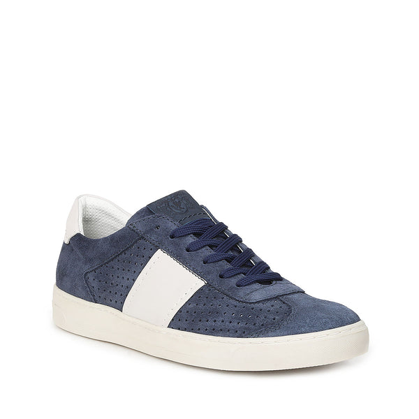 Dario Perforated Suede Sneaker - Navy Suede - FINAL SALE