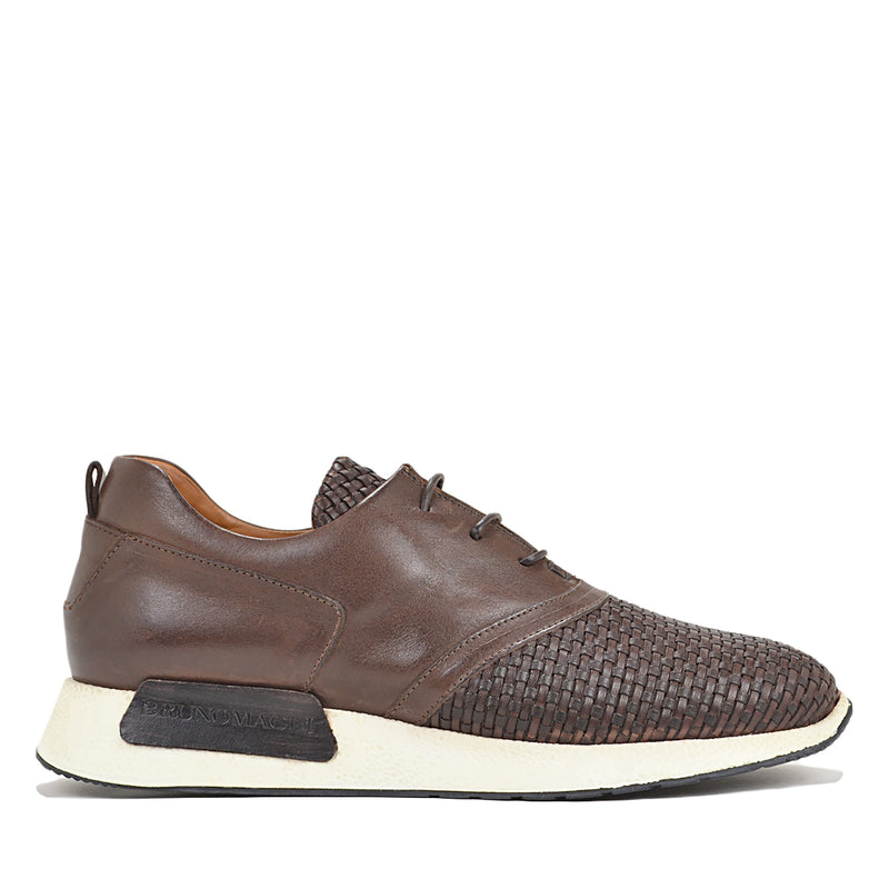 Dito Sneaker - Dark Brown Woven Leather - FINAL SALE