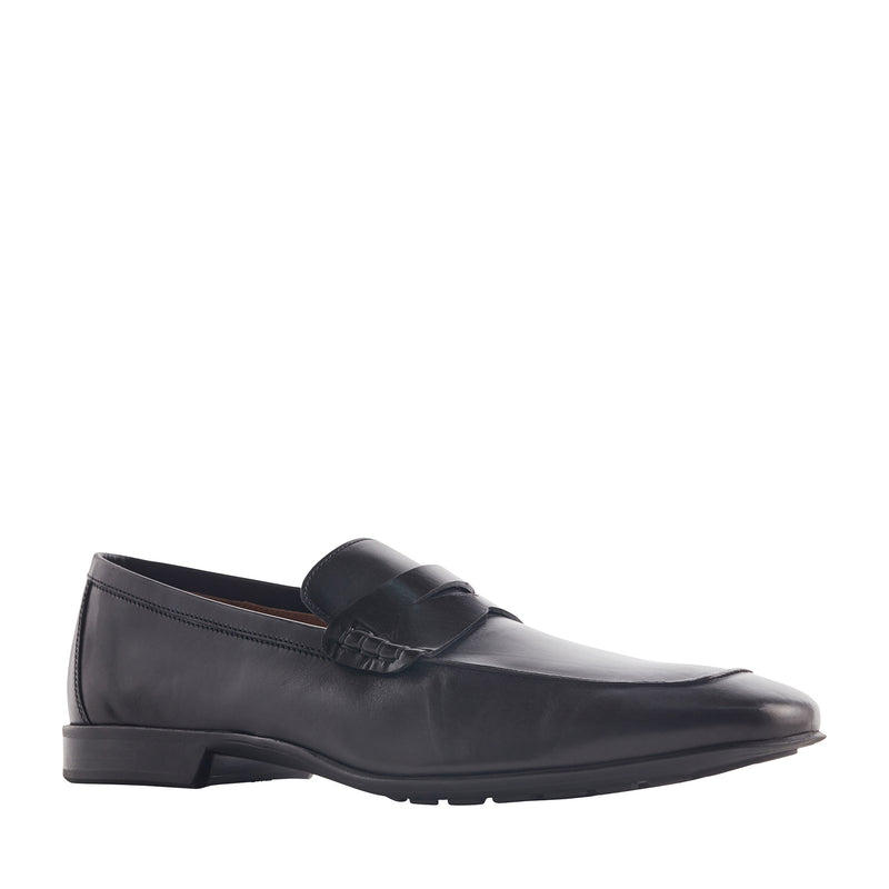 Dorino Calf-Leather Penny Loafer - Black