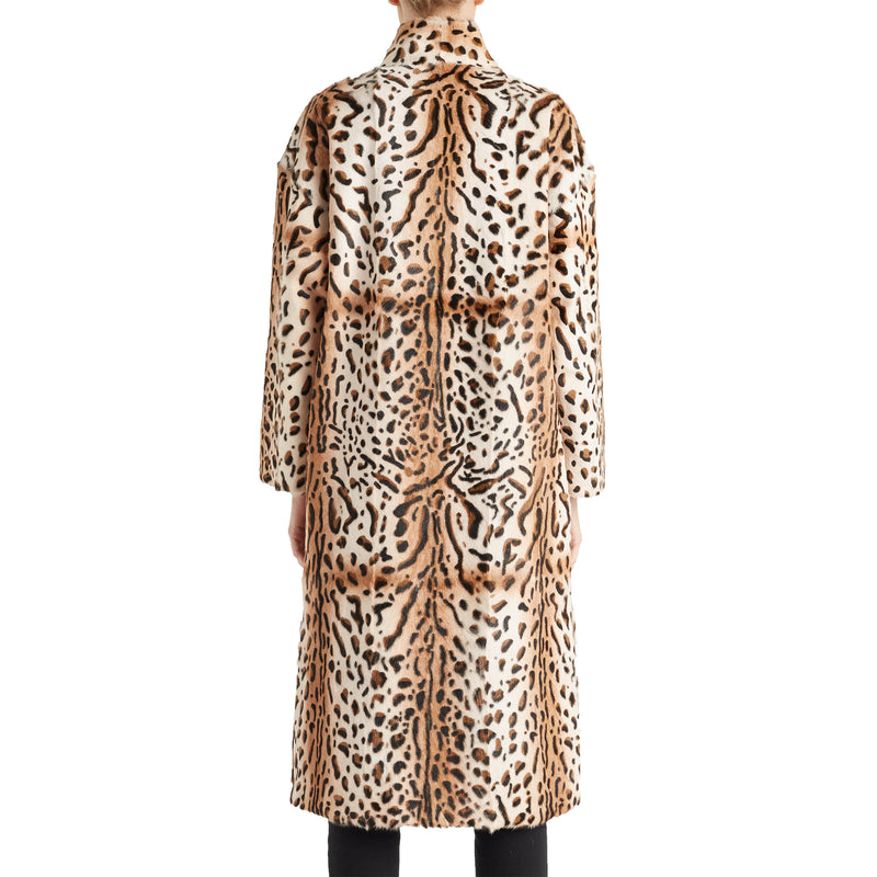 Women's Serena Cheetah-Print Fur Coat - Cheetah