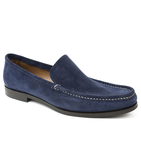 Encino Suede Casual-Vamp Loafer - Navy
