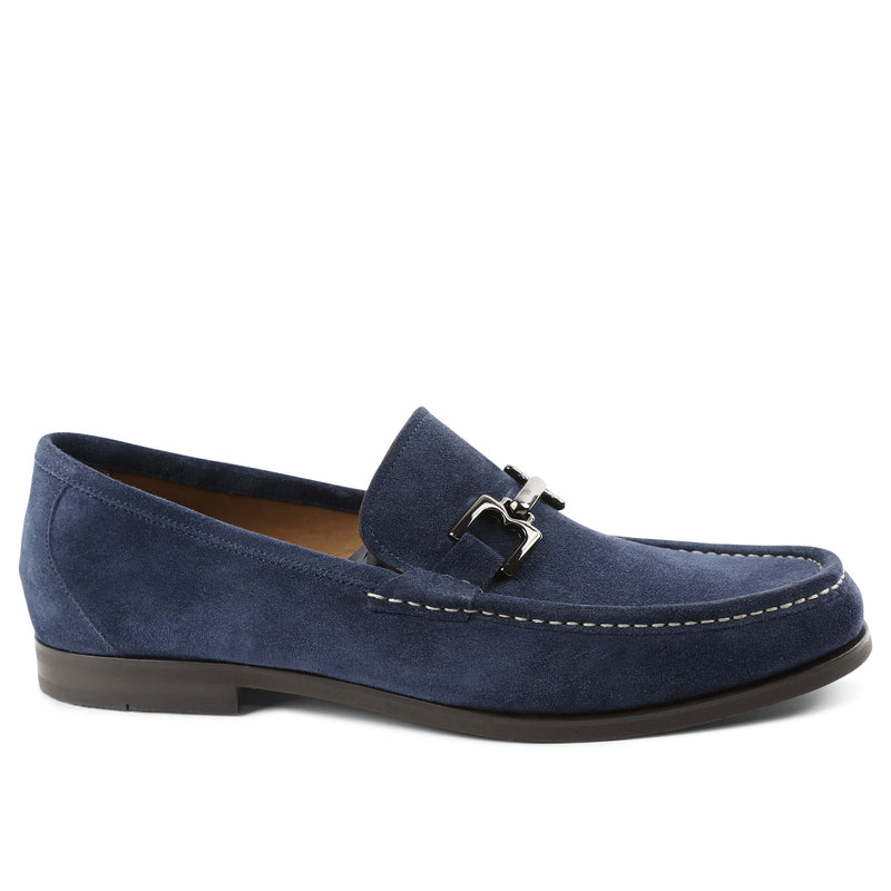 Enrico Suede Bit Loafer Slip-On - Navy