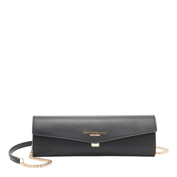 Chain Envelope Clutch - Black
