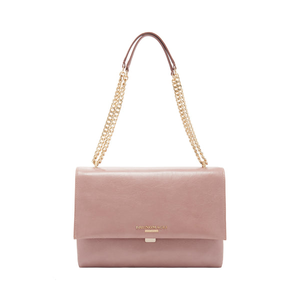 Chain Multi Shoulder Strap Handbag - Nude