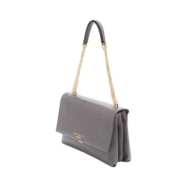 Chain Multi Shoulder Strap Handbag - Greige