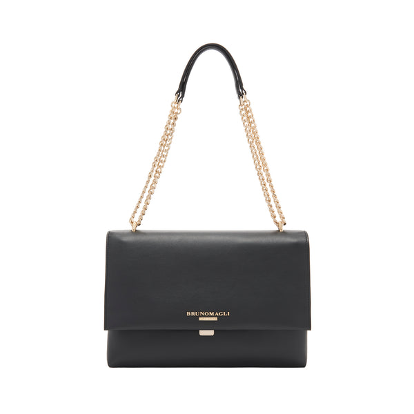 Chain Multi Shoulder Strap Handbag - Black