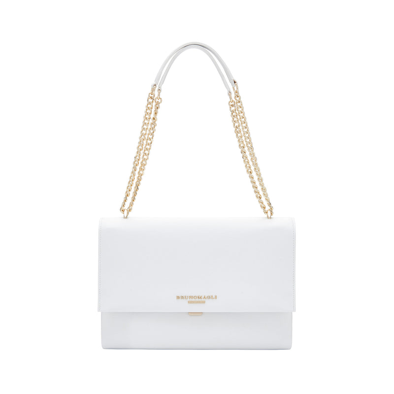 Chain Multi Shoulder Strap Handbag - Talc
