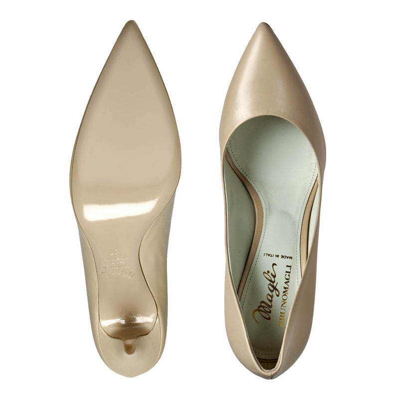 Fosca Pointed-Toe Pump, 3.5-Inch - Nude  - FINAL SALE