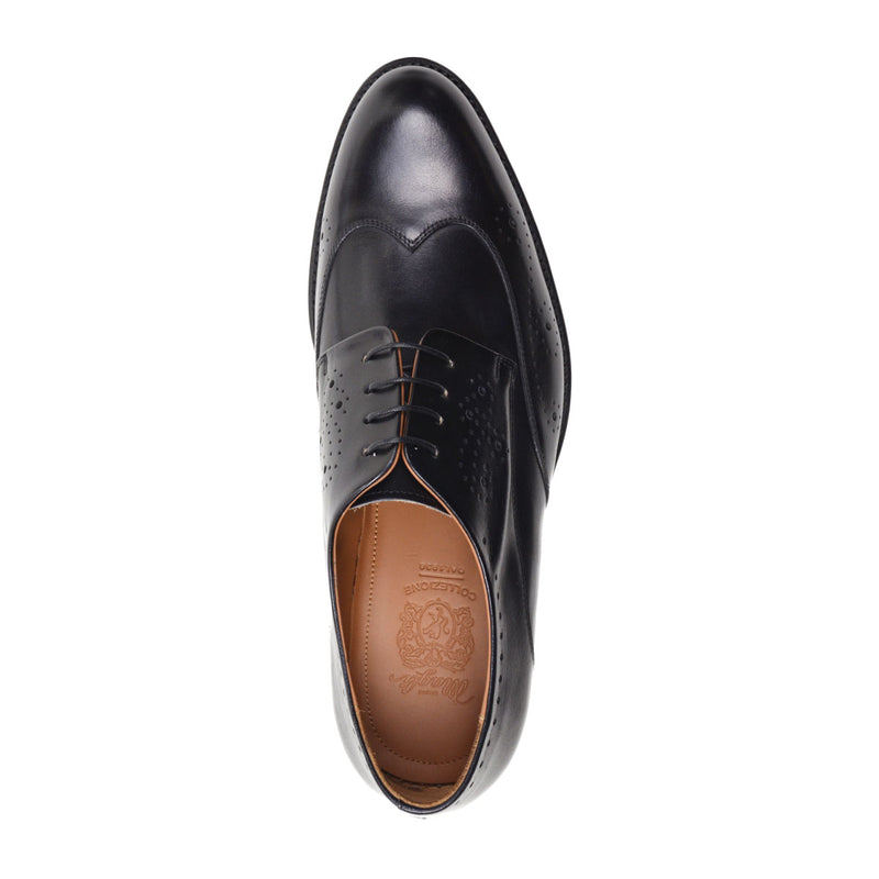 Franco Men's Leather Lace-up Oxford - Black