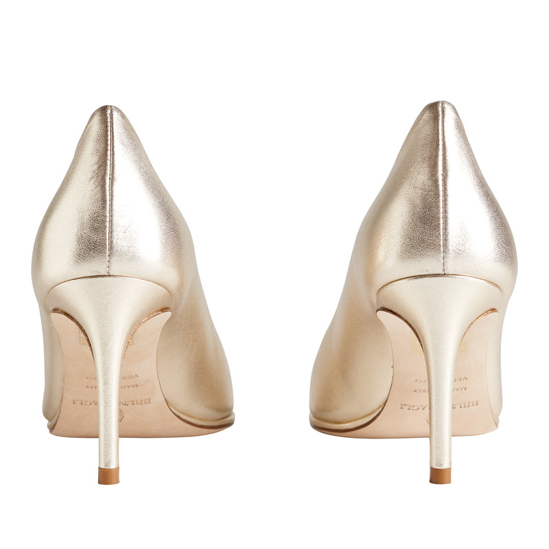 Galena Pointed-Toe Pump, 2.5 Inch - Gold