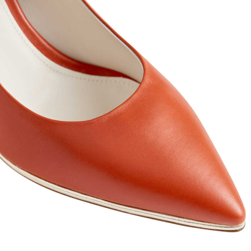 Galena Pointed-Toe Pump, 2.5 Inch - Rust