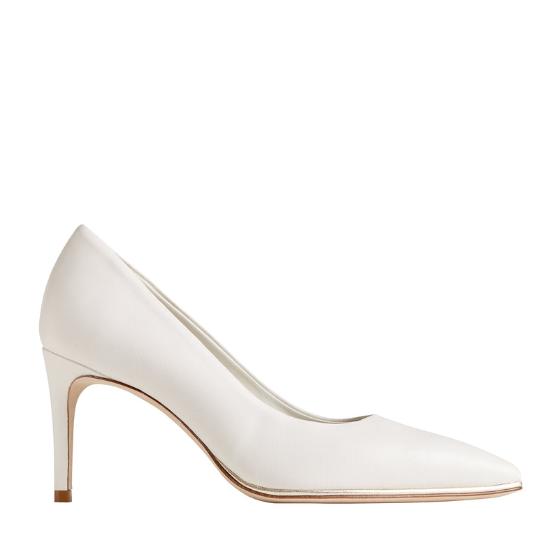 Galena Pointed-Toe Pump, 2.5 Inch - Eggshell