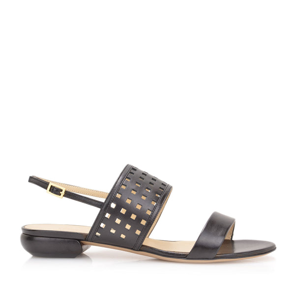 Gemma Sandal, 1-inch - Black Leather - FINAL SALE