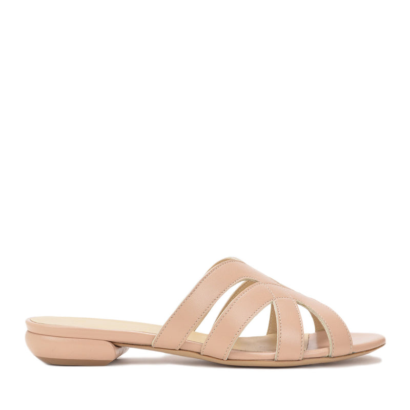 Geneva Leather Slide, 1-inch - Nude Leather