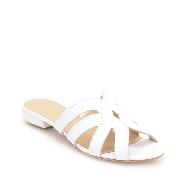 Geneva Leather Slide, 1-inch - White Leather - FINAL SALE